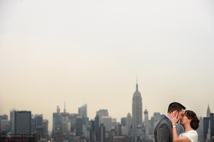 Bride and Groom NYC Skyline by Joe Dantone