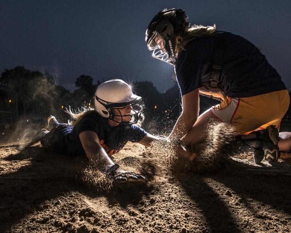 Softball Slide by Robert Colletta