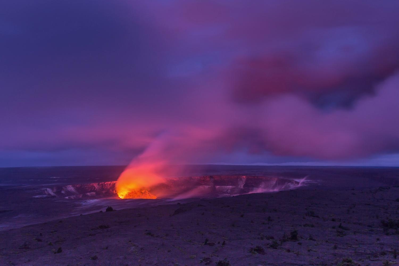 Lava Lake at Hawai'i Volcanoes National Park by Greg Van Gorp