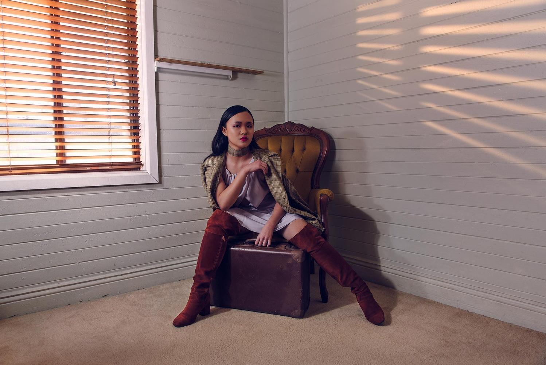 Janice, Chair, Suitcase by Matt Robertson