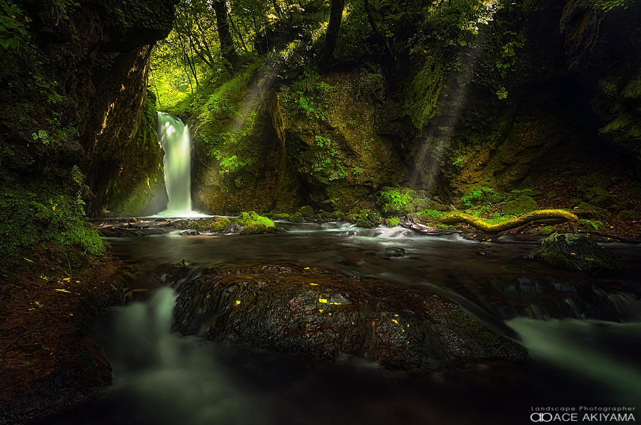 Waterfall of Ryugaeshi in Japan by Ace Akiyama
