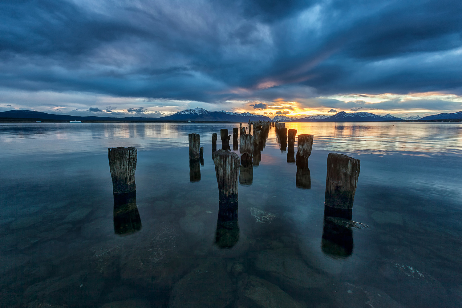 Sunset at Puerto Natales by Andrea Torselli