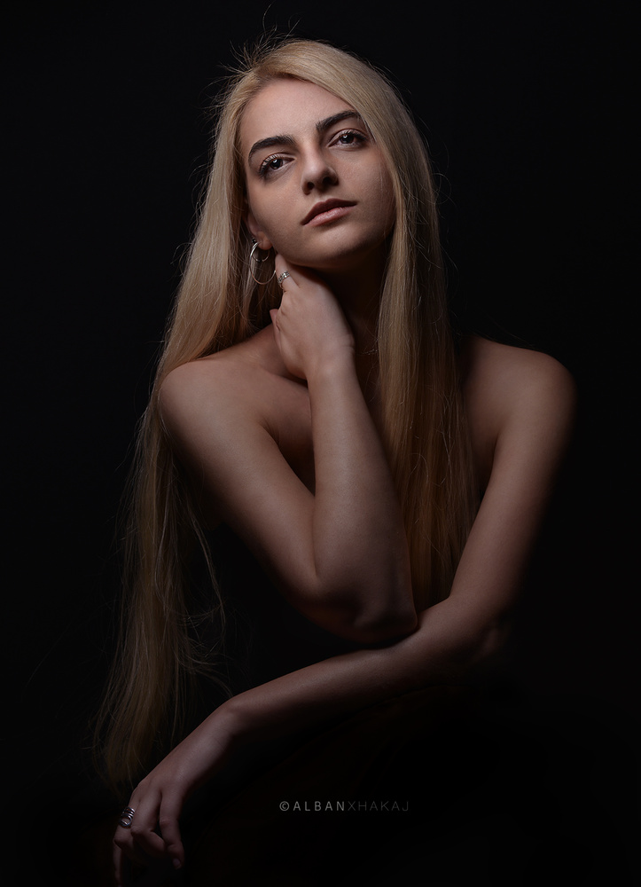 Long Hair Girl by Alban Xhakaj