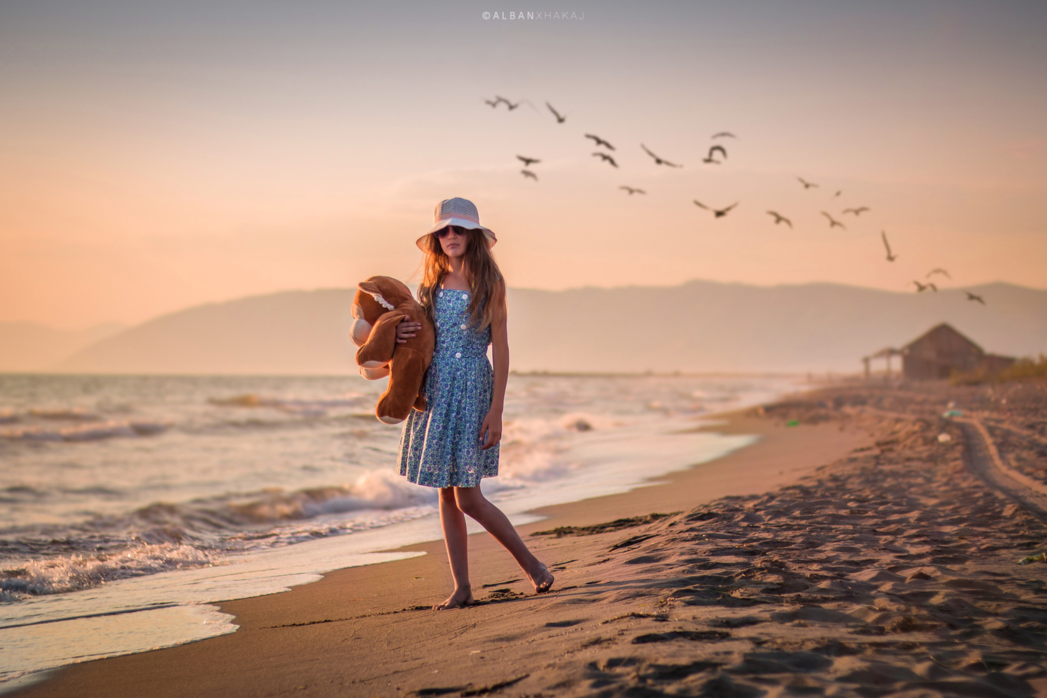 Girl in the beach by Alban Xhakaj