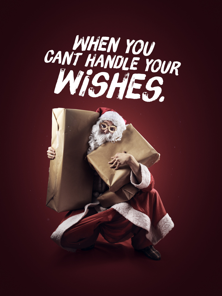 Christmas Card - When you can't handle your wishes by Artem Pissarevskiy