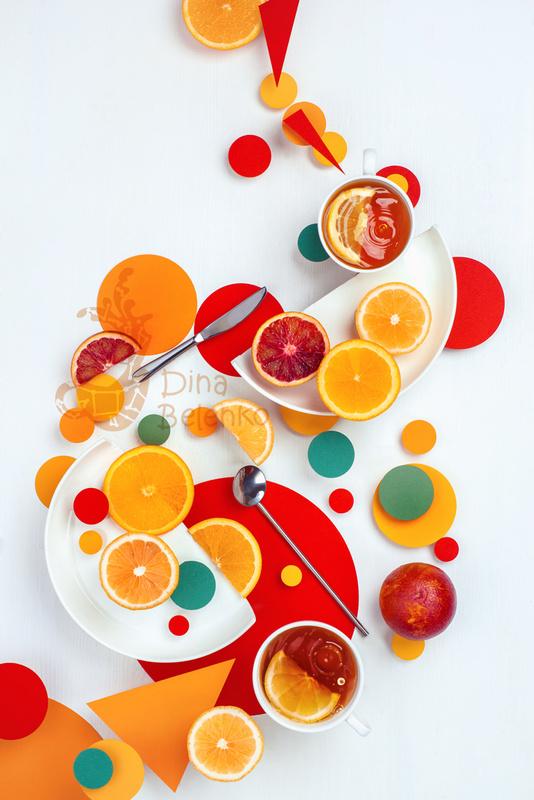 Suprematic lemon tea  by Dina Belenko