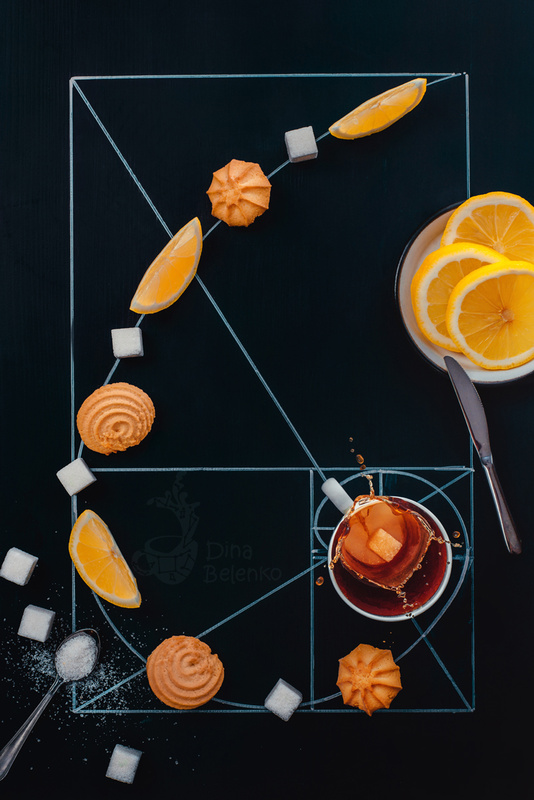 Golden ratio of teatime by Dina Belenko