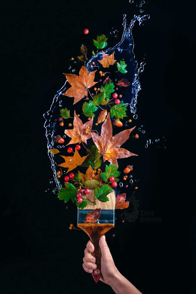 Painting Fall (Part 2) by Dina Belenko