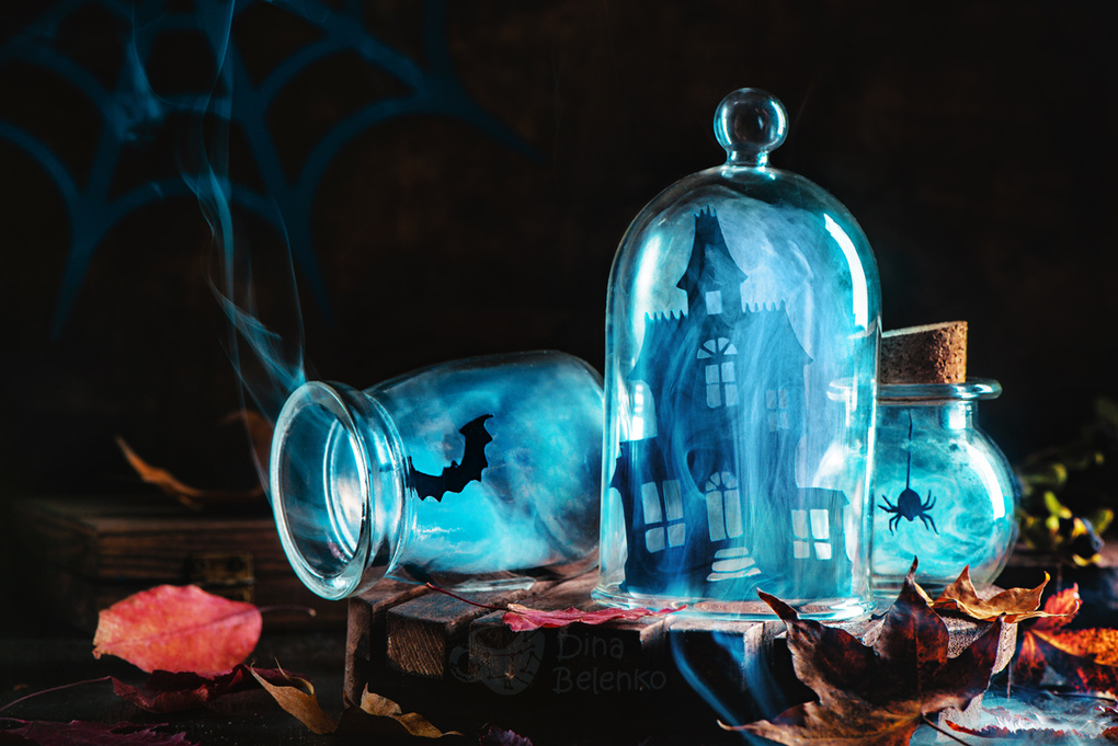 Souvenirs from haunted mansion logo by Dina Belenko
