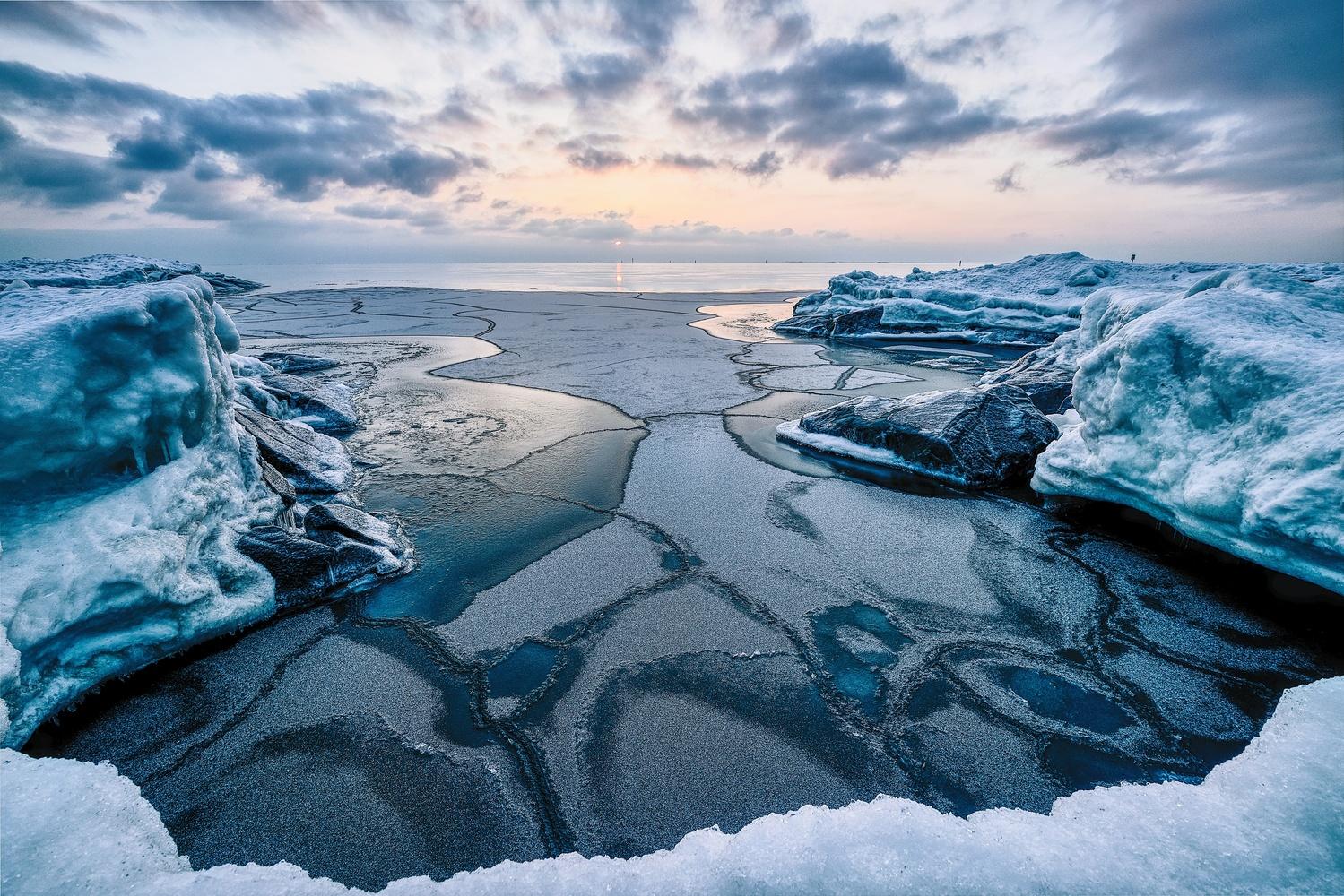Frozen Shore by Mika Kallio