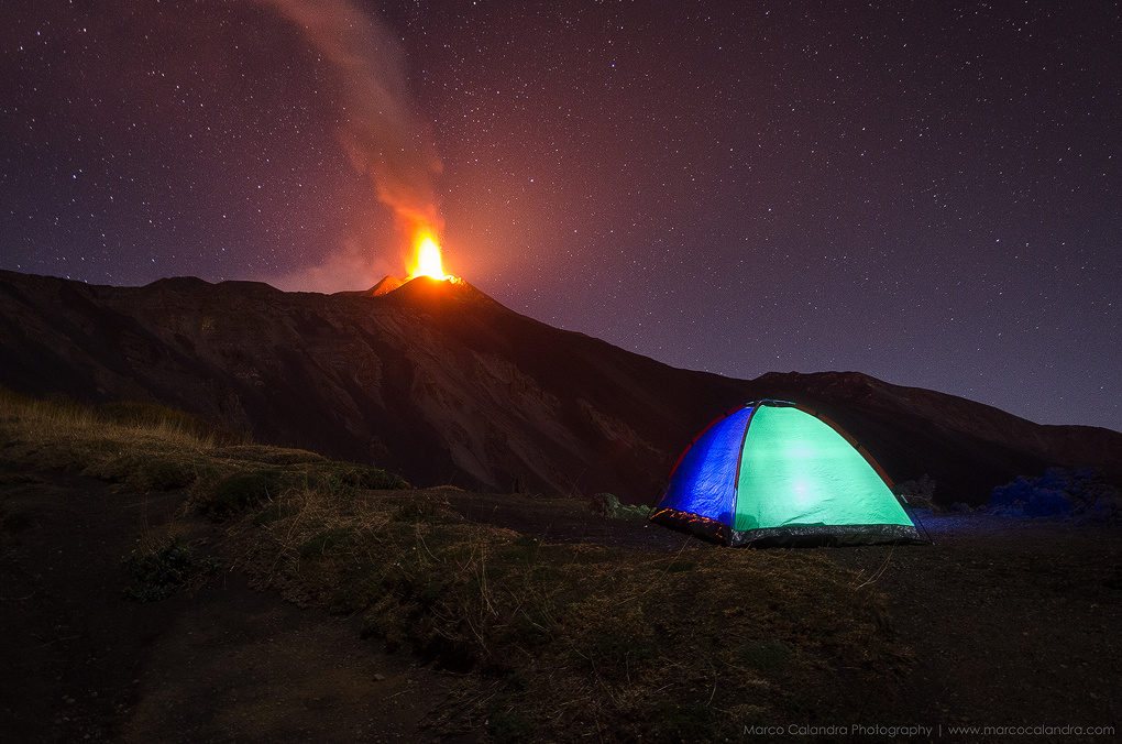 Camping on the volcano Etna by Marco Calandra