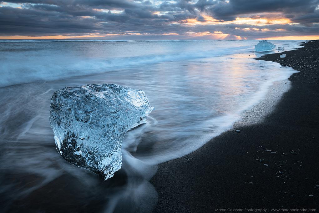 Diamond beach by Marco Calandra