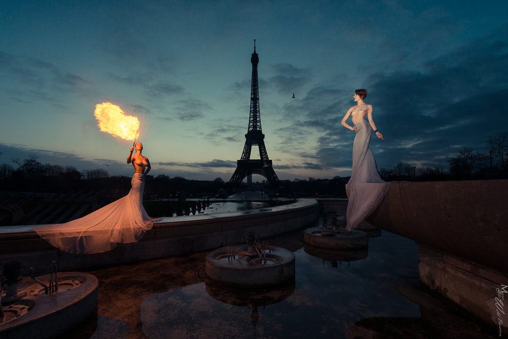 Paris in fire by Marc lamey