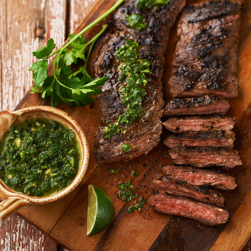 Skirt Steak with Chimichurri lime Sauce by Studio Peck