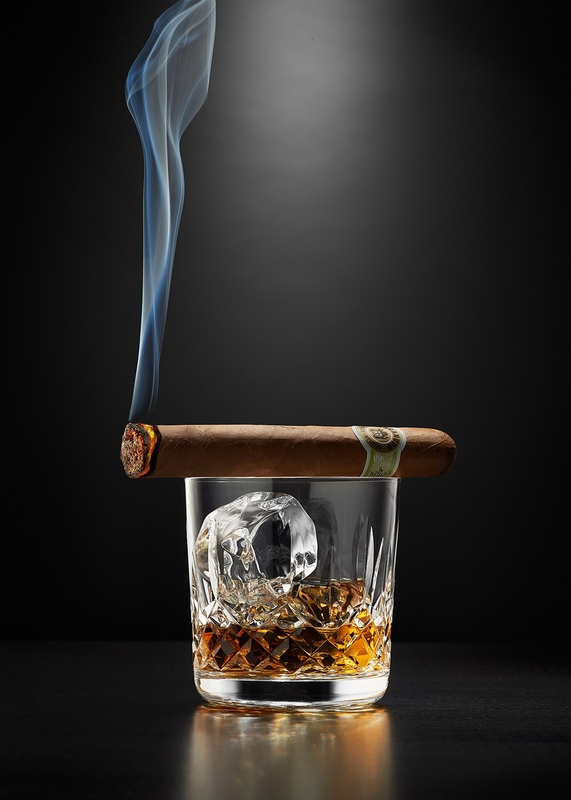 Bourbon & cigar by Studio Peck