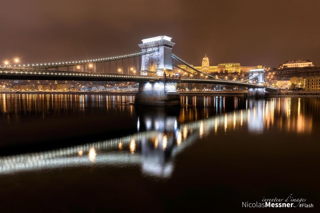 Budapest Chain Bridge 1 by Nicolas Messner