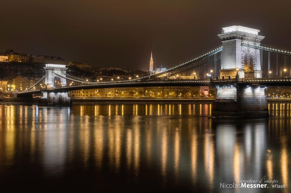 Budapest Chain Bridge 5 by Nicolas Messner