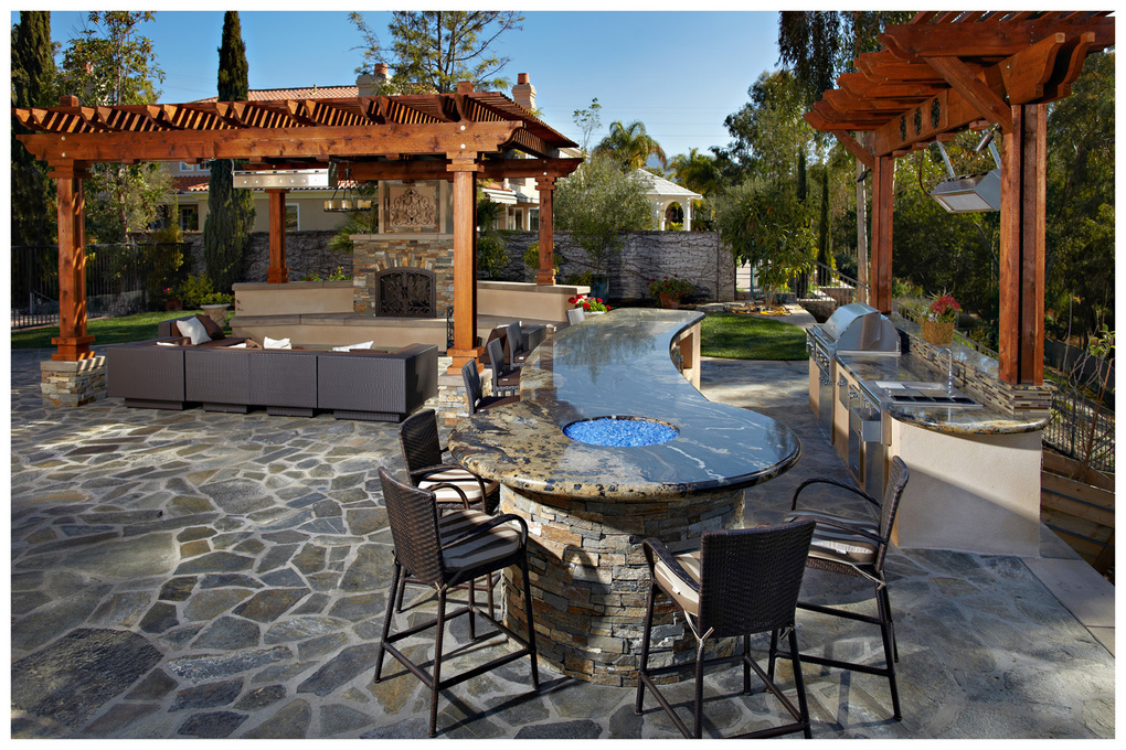 Island Construction - RSF home patio, BBQ by John Riedy
