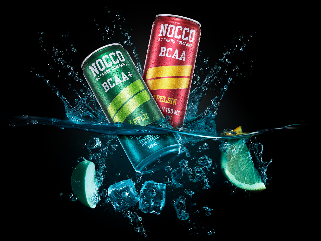 Nocco energy drink conceptual image by Markus Pettersson