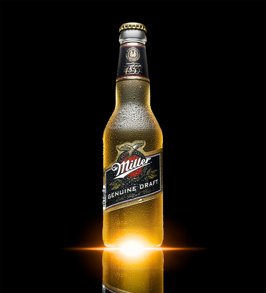Miller beer bottle by Markus Pettersson
