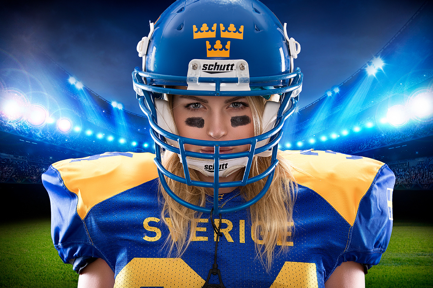American football girl by Markus Pettersson