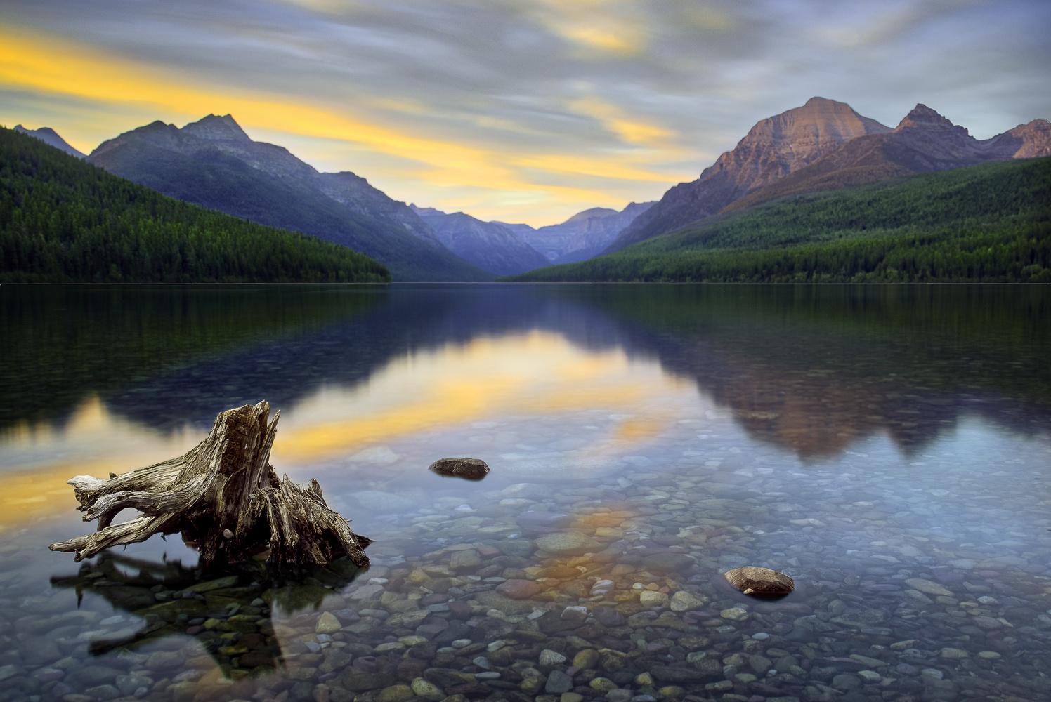 Bowman Lake by Gene Balun
