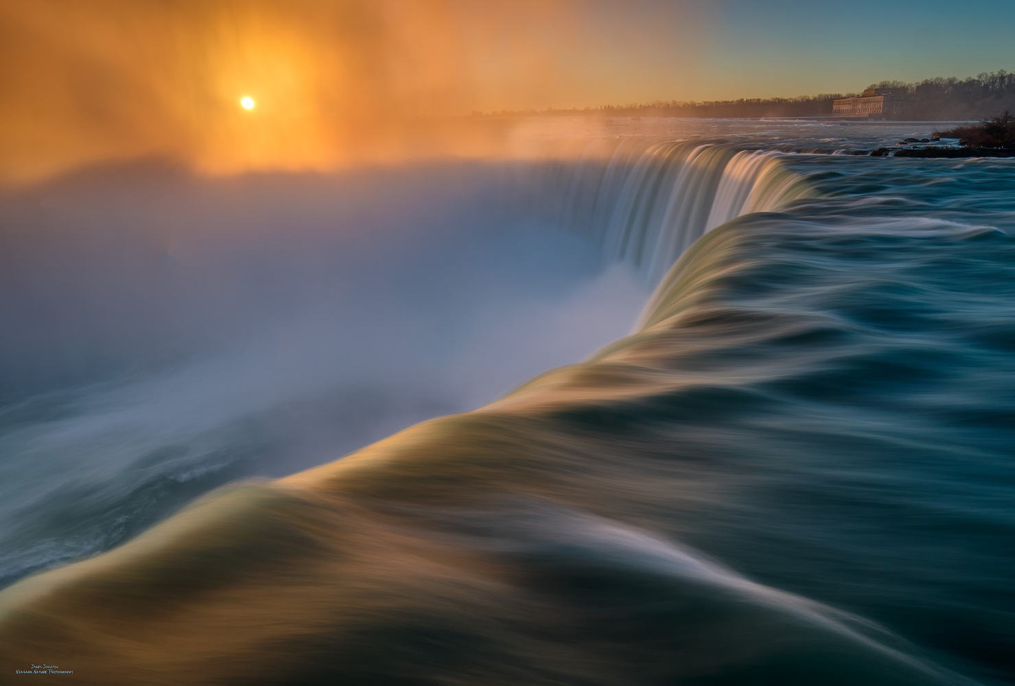Soft Niagara Sunrise by James Johnston