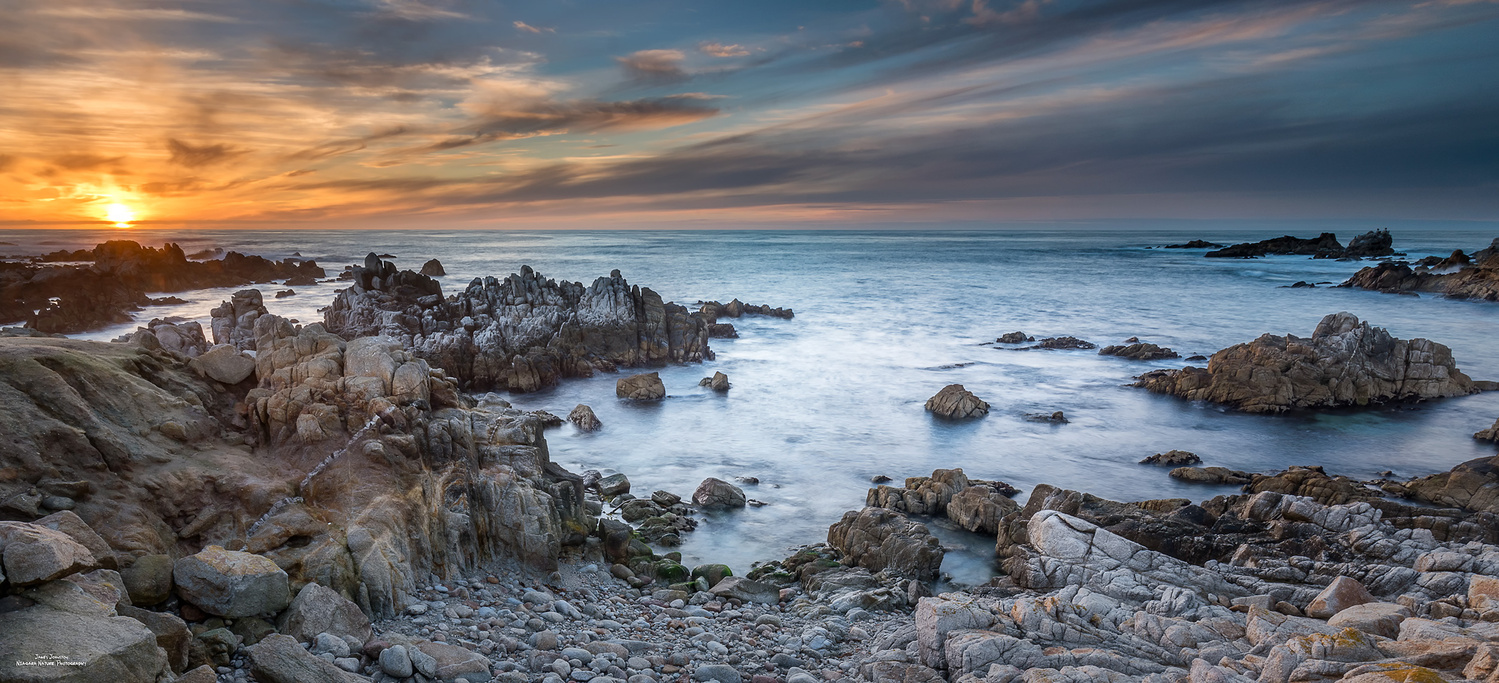 Pacific Grove Sunset by James Johnston