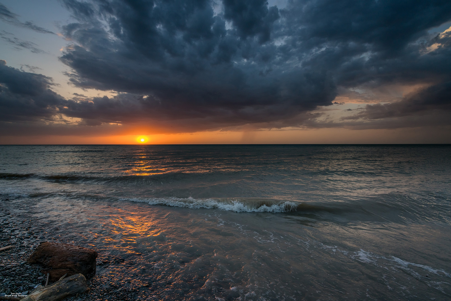Lake Ontario Sunset by James Johnston