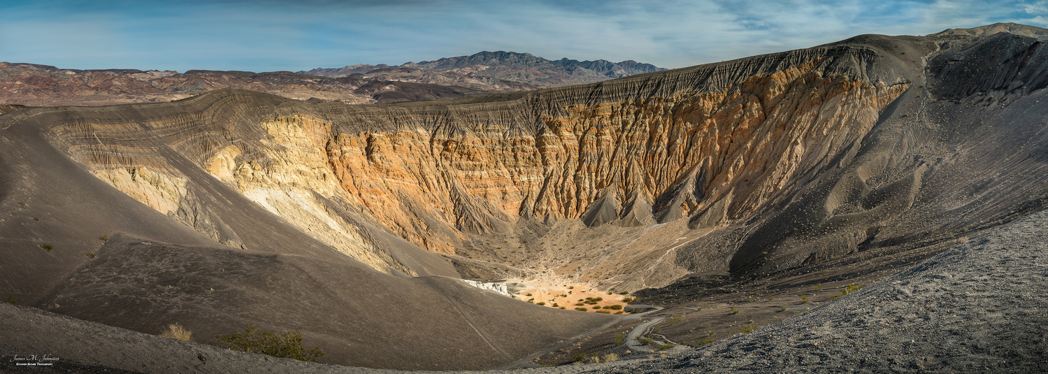 Ubehebe Crater In Panorama by James Johnston