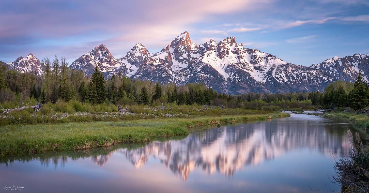 Schwabacher Landing Sunrise by James Johnston