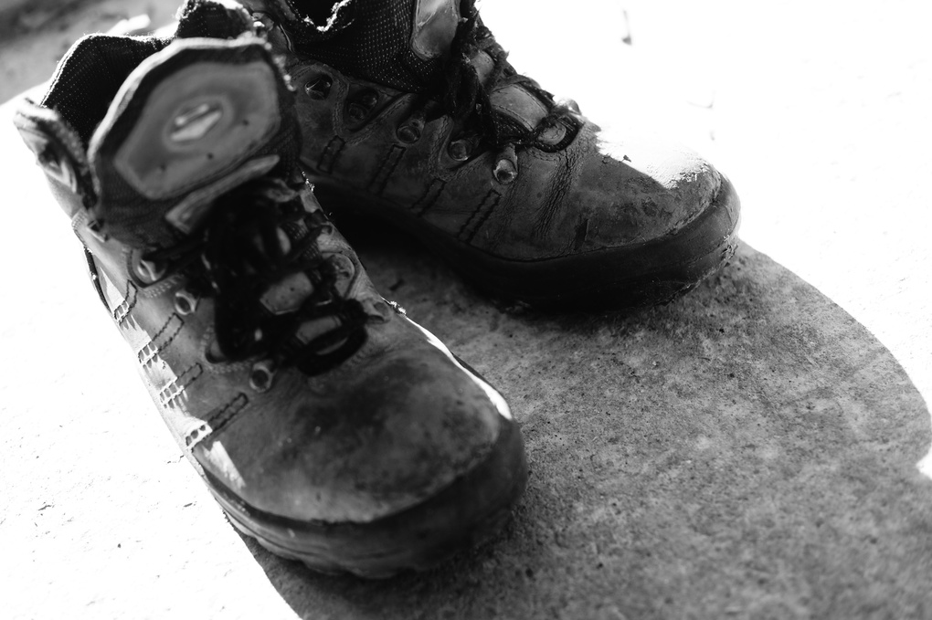 Old working shoes by vladimir b.