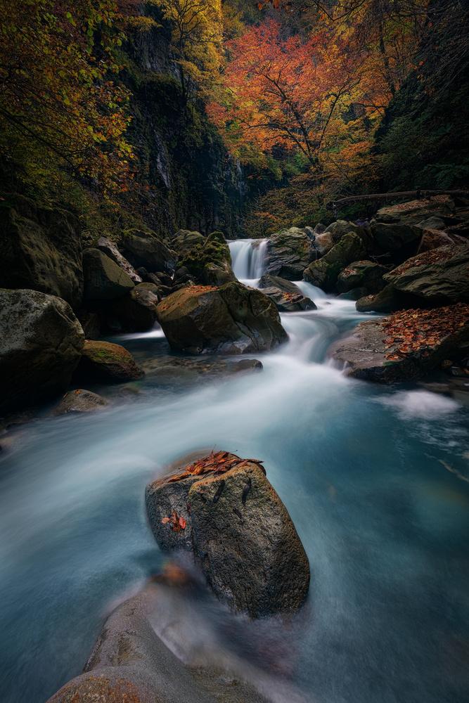 Blue river by Shumon Saito