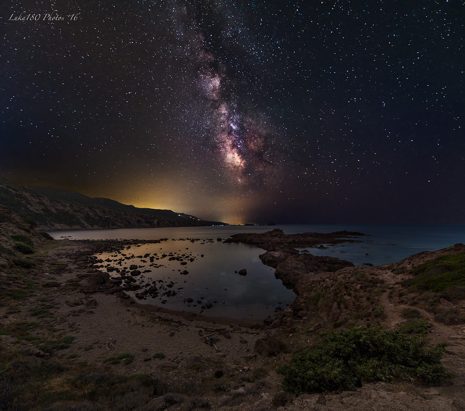 Starry Night at Columbargia by LUCA SANNA
