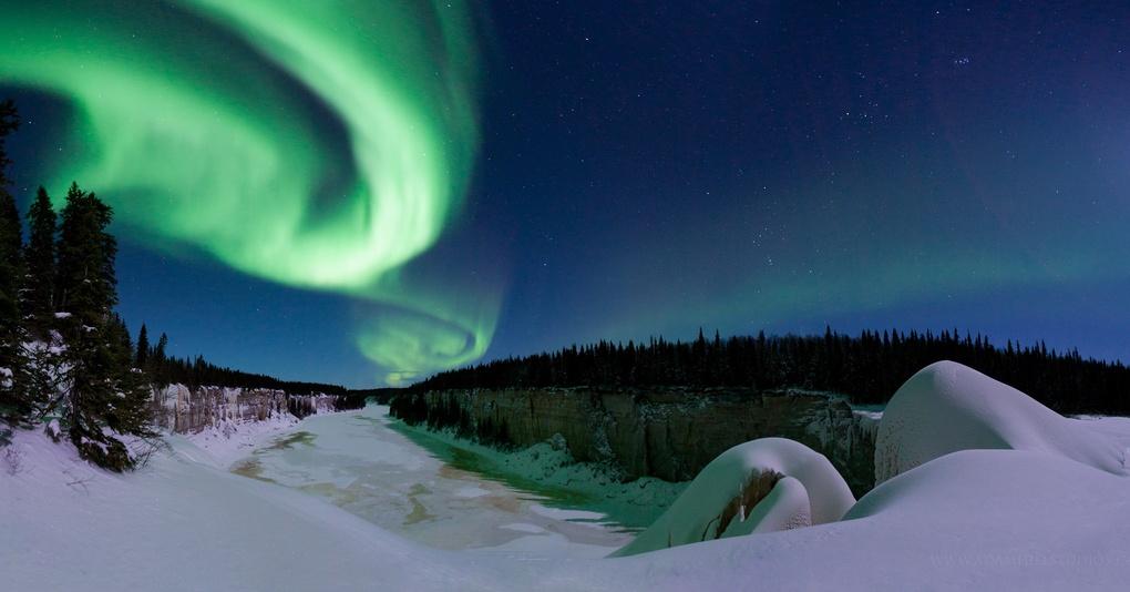 Aurora and Alexandra Falls by Adam Hill