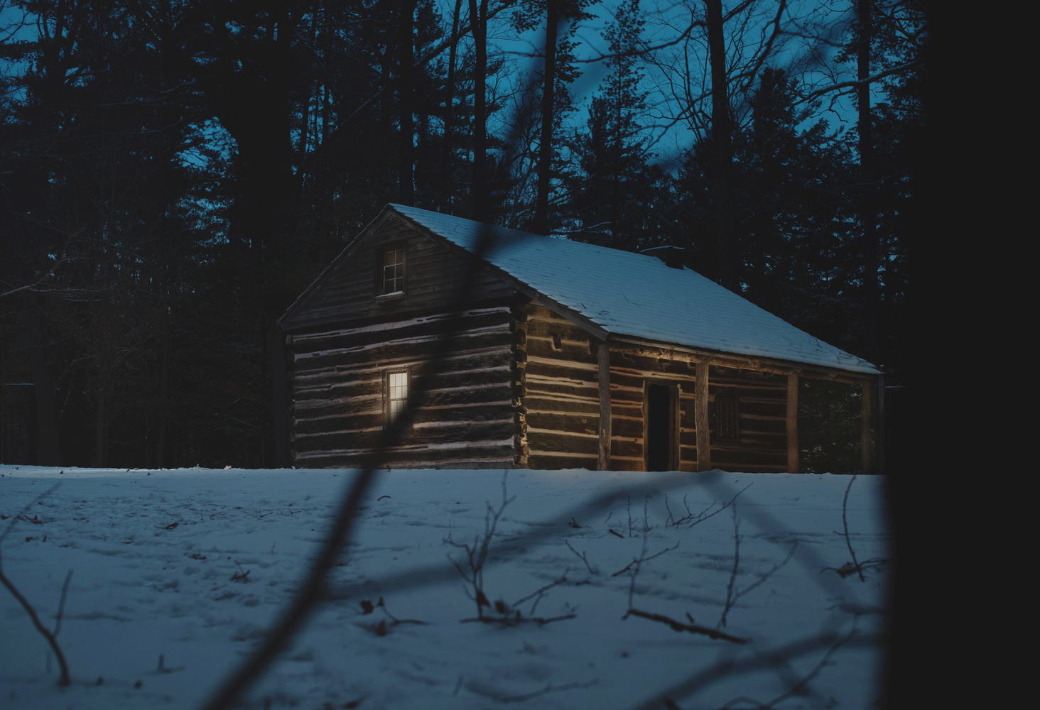 Cabin in the woods by Cole Bielecki