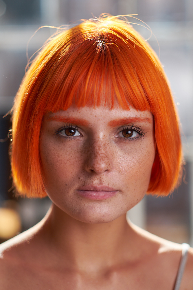 The girl with the orange hair by Mark Neal