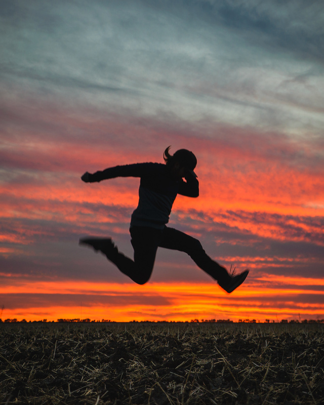 Sunset Jump by Joel Boily