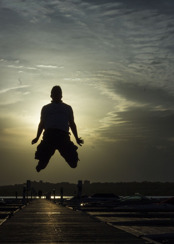 Silhouette Jump by Uday Arunachalam