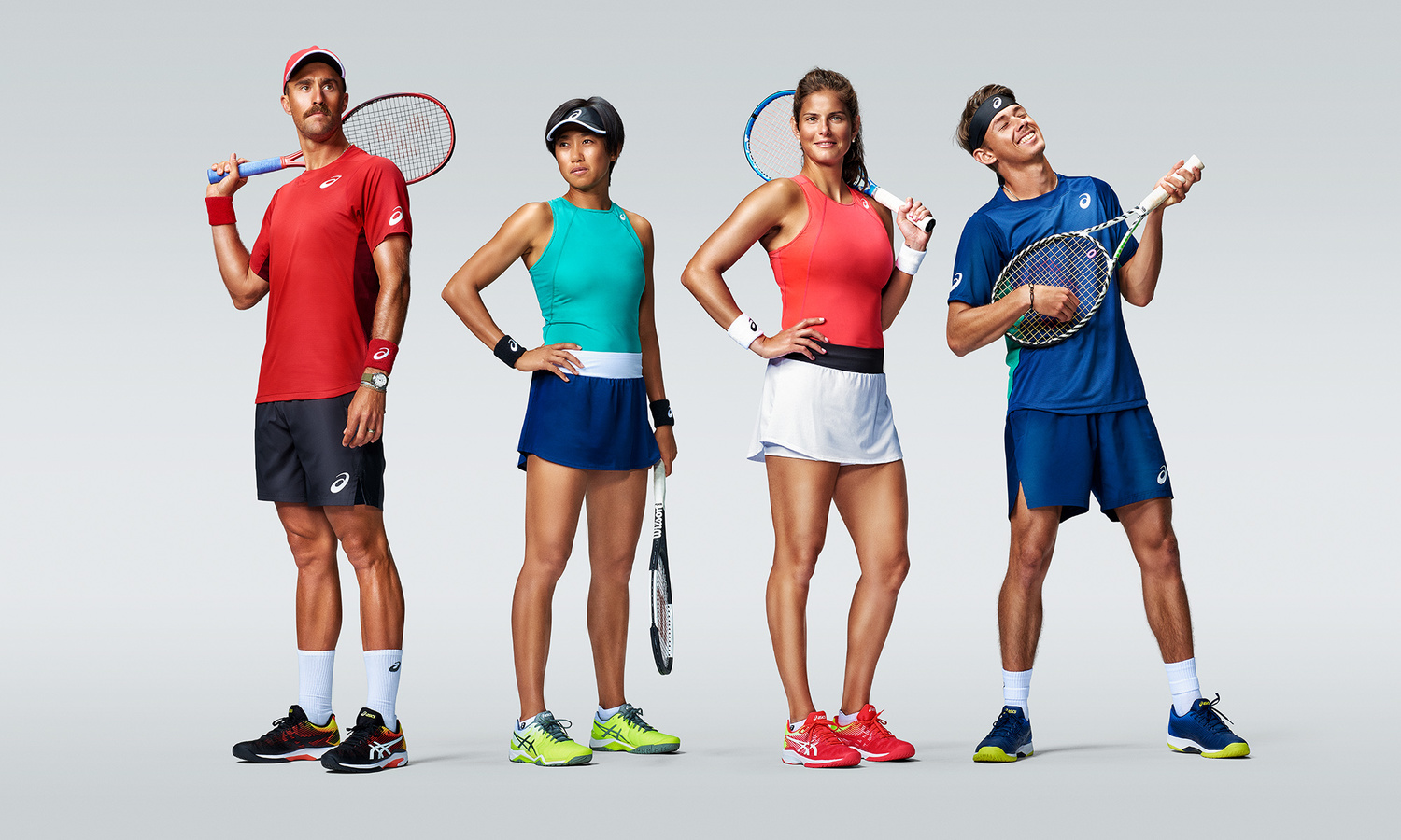 ASICS Tennis Players by Smith And Daniels