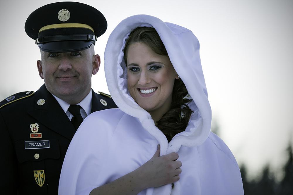Bride and groom by michael kinnaman