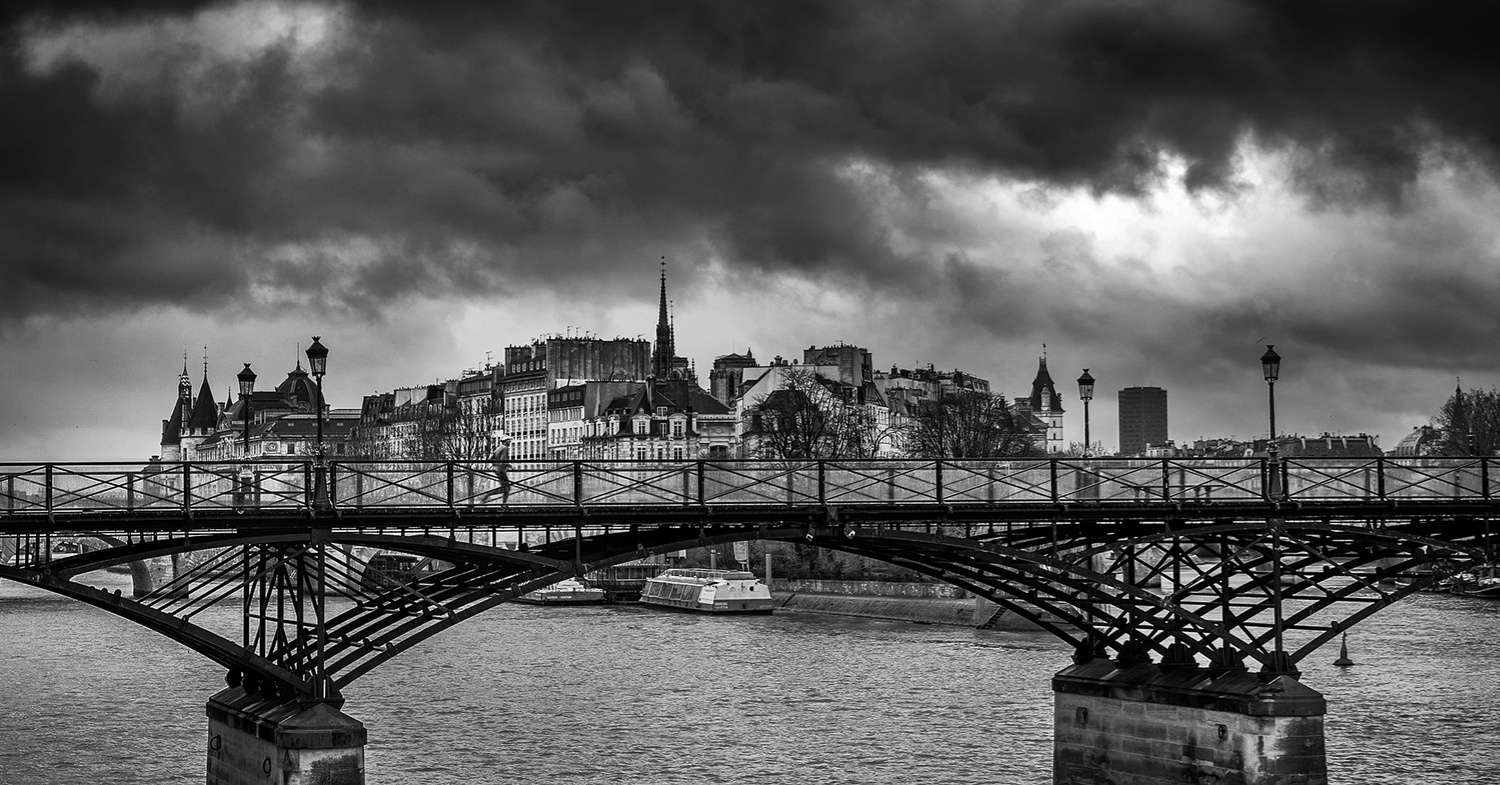 Lone Runner on the Pont Neuf by Darcy Brown