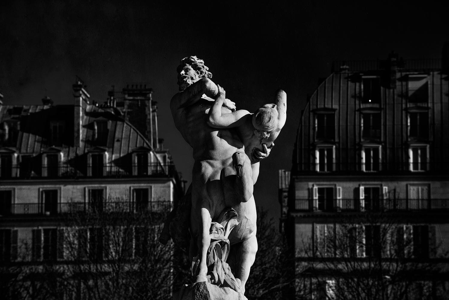 Centaur capturing Nymph by Marqueste by Darcy Brown