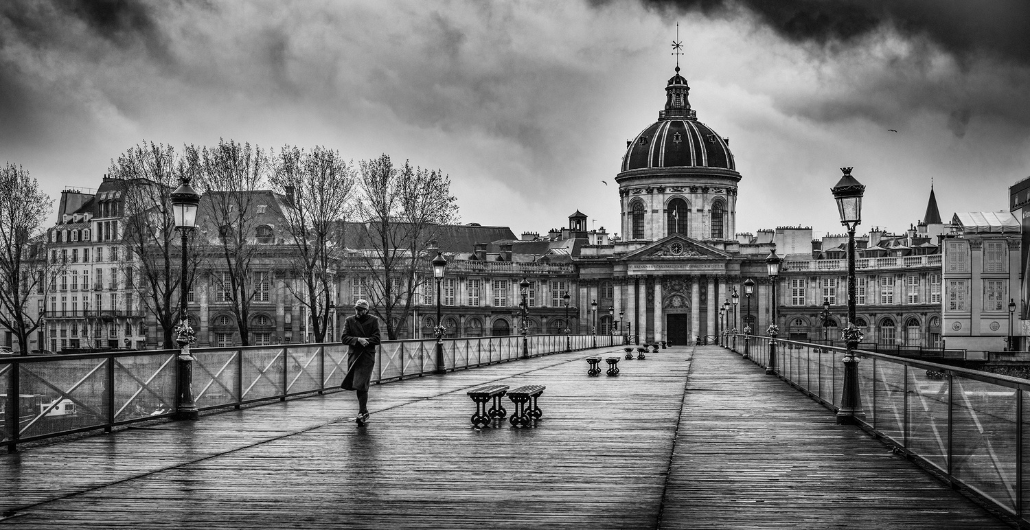 Stormy morning on the Pont Neuf. by Darcy Brown