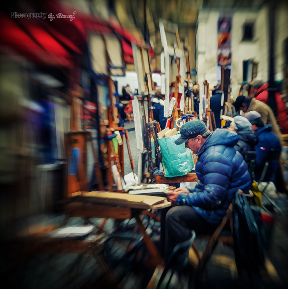 Place Du Tertre, Paris by Darcy Brown