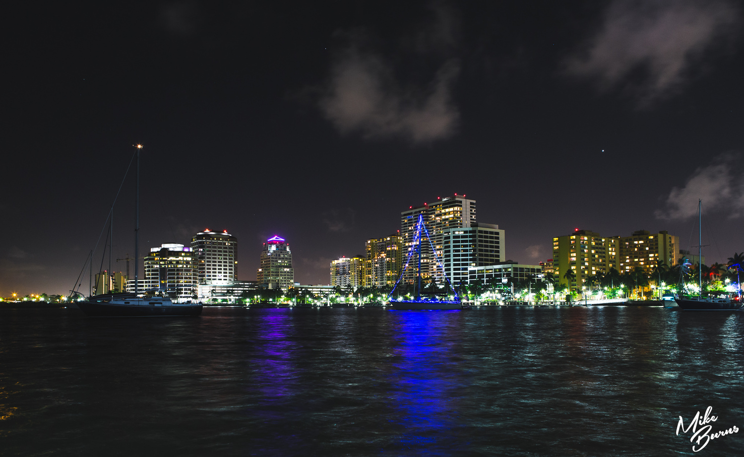Palm Beach, FL Skyline by Mike Burns