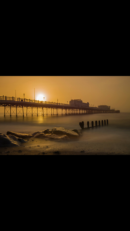 Foggy Sunrise Worthing Pier by Darren Gritton