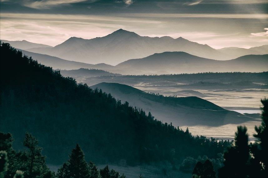 Rocky Mountain Eclipse by Allen Cooper