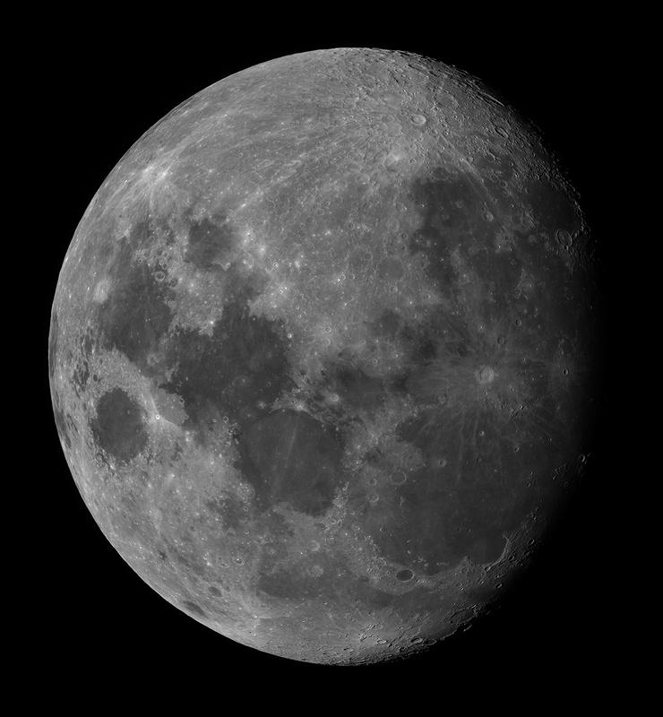 the moon taken from my backyard in the suburbs of phoenix by Josh Borup