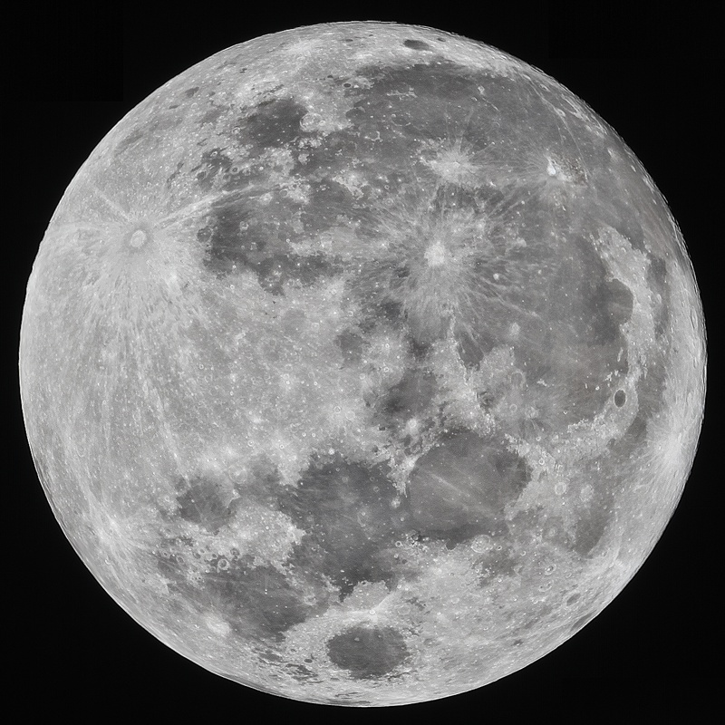 full moon taken from my backyard in the suburbs of phoenix by Josh Borup